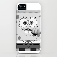 Spongebob Squarepants Moustache iPhone Case by Luxatr | Society6