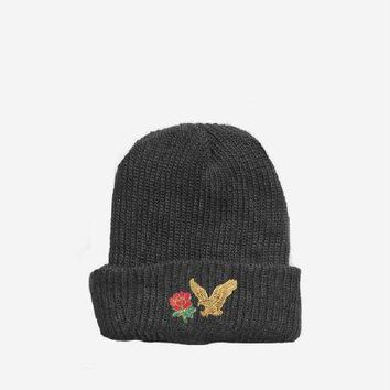 Resting Beauty Beanie in Black