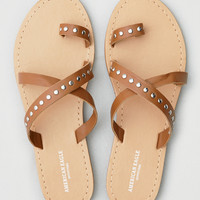 AEO Studded Slide Sandal, Tan