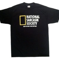 National Sarcasm Society Funny Men's T-shirt:Amazon:Clothing