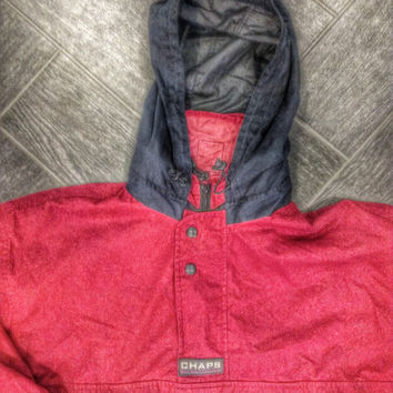Vintage Ralph Lauren windbreaker thick sz L Red Blue