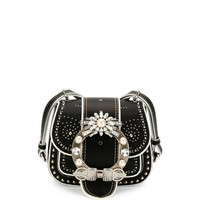 Miu Miu Embellished Lady Saddle Bag, Black