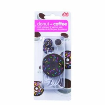 DCI 31014 Donut Earbud and Cord Wrapper Set - Retail Packaging - Brown