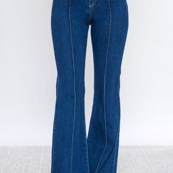 Back In the Day High Waisted Bell Flare Jean