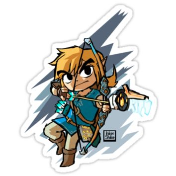 'Link breath of the wild' Sticker by inkershike