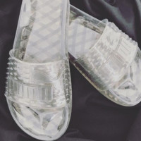 simpleclothesv : Puma Fenty Rihanna Slides Crystal Shoes Female Slippers