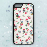 Disney Minnie Mouse Floral Pattern Case For iPhone 6 6s 7 8 Plus Samsung Cover +