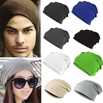 Winter Warm Unisex Women Men Knit Ski Crochet Slouch Hat Cap Color Coffee