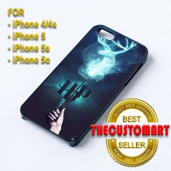 stag patronus harry potter - For iPhone 4/4S Black Case Cover