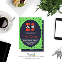 Printable Housewarming Party Invitation, Housewarming Invitation Printable, Printable Home Sweet Home, Housewarming Invite, New Home