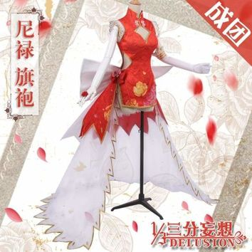 [Per-sale] Anime Fate/Grand Order Saber Nero  Chinese cheongsam Red Dress Cosplay Costume For Women Halloween Free Shipping New Macchar Cosplay Catalogue