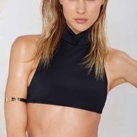 Nasty Gal Wave Down Bikini Top
