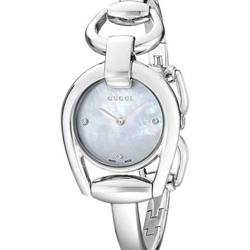 "Gucci ""Horsebit Collection"" Stainless Steel Bracelet Women's Watch(Model:YA139506)"