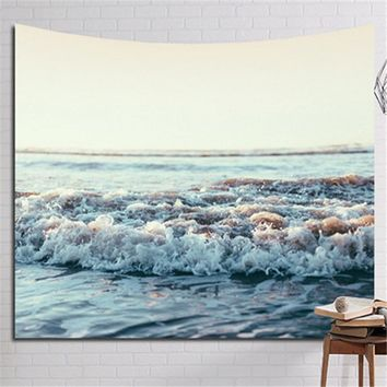 New Indian tapestry Waves rolling Tapestry Mandala Wall Hanging Decorative Tapestry Beach Towel Throw Picnic Blanket Table Cloth