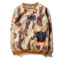 Couple Camouflage Hoodies Hip-hop Jacket [10233706183]