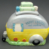 Happy Campers Eat Cookies Cookie Jar
