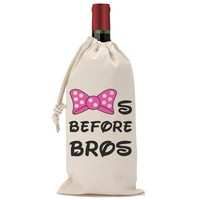 Bows Before Bros Wine Bag