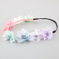 Full Tilt Multicolor Chiffon Flower Headband Multi One Size For Women 25958595701