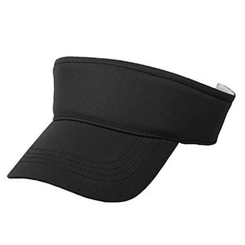 Opromo Kids Cotton Sports Visors - Fashion Sun Hat - Various Colors Available BLACK-12PCS