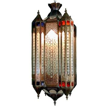 Wunderley Brass And Glass Lantern Large