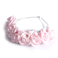 Crown and Glory Hair Accessories — Lotta Rosie Headband - Blush Pink