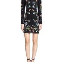 enabled: truelabel: needle & thread-Sequined Floral Dress