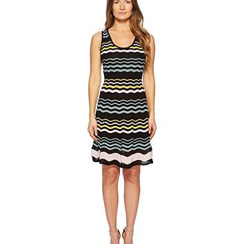 M Missoni Color Block Ripple Dress