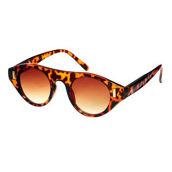 ASOS Round Sunglasses With Flat Brow