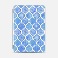 Cornflower Blue Hand Painted Moroccan Pattern iPad Mini case by Micklyn Le Feuvre | Casetify