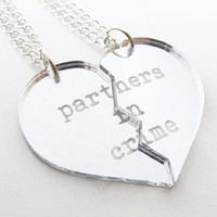 Partners in Crime Necklace Set  Silver by iloveyardleydecember