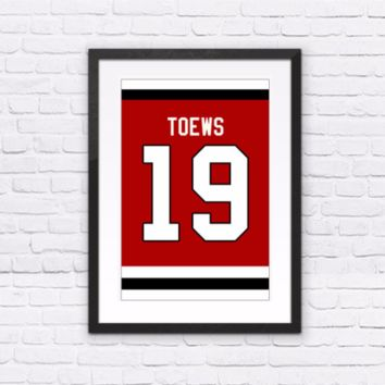 Jonathan Toews Number 19 Jersey