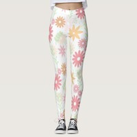 Pastel Flowers Leggings