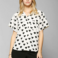 Glamorous Heart Bowling Shirt - Urban Outfitters