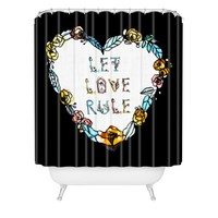CayenaBlanca Let Love Rule Shower Curtain