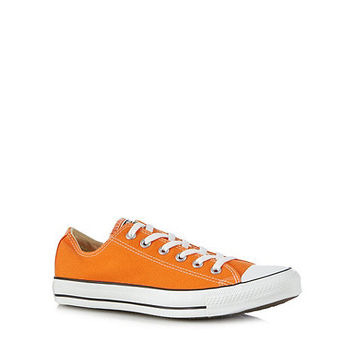 Mens Converse Orange lace up canvas trainers