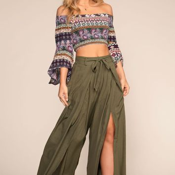 Havana Highwaist Pants - Olive