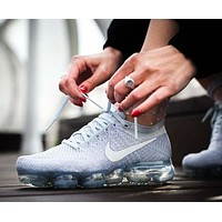 Nike Air VaporMax Flyknit All White Men's Women's Running Shoe 849557-004