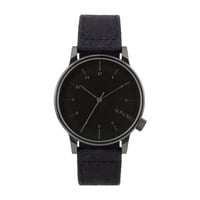 KOMONO Winston Heritage Series Watch in Duotone Black