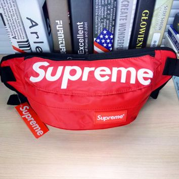 Hot Unisex Supreme Print Zipper Chest Waist Pouch Belt Wallet Bags