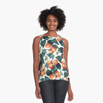 'Tropical Fruit #redbubble #lifestyle' Contrast Tank by Uma Gokhale