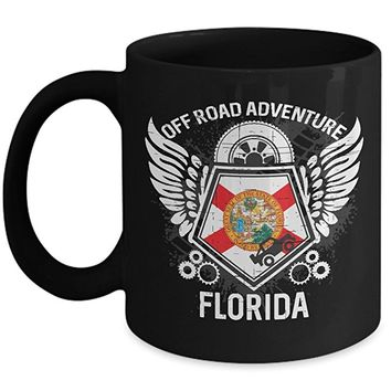 Florida Off Road Adventure 11oz Black Coffee Mug 4x4 Trails Riding Mudding Gift Idea