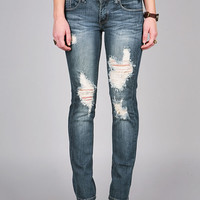 Trip Line Ankle Denim