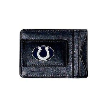 NFL Indianapolis Colts Black Leather Magnetic Money Clip & Card Holder