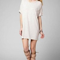 The Rileigh T-Shirt Dress - Oatmeal FINAL SALE!