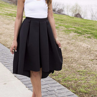 Lovely Ladies High Waist Black Blogger Skirt