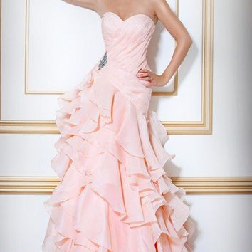 Ruffle Layered Gown, Style 17270