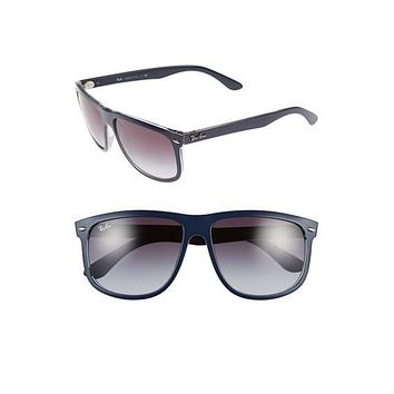 Men's Ray-Ban 'Flat Top Boyfriend' 60mm Sunglasses - Matte