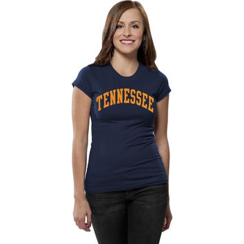 Tennessee Volunteers Women's Navy Blue Varsity Team Arch T-Shirt
