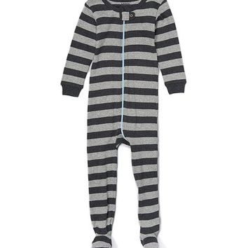 Gray Stripe Sleeper Footie - Infant & Toddler