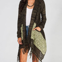 Billabong Downtown Lovers Womens Cardigan Olive  In Sizes